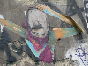 Fight, street art
