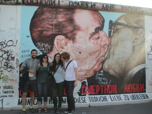 Berlin Wall with friends from Germany and Turkey.