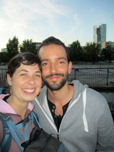 Martino and I snapped this photo together in Warsaw, Poland.