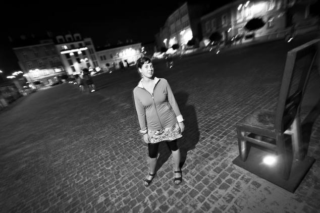 Marek snapped this portrait of me at the memorial in the old Jewish Ghetto, Krakow, Poland. Photo credit: Marek Petraszek