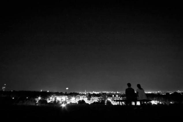 Watching the city lights of Krakow on one of my last nights in Poland. Photo credit: Marek Petraszek