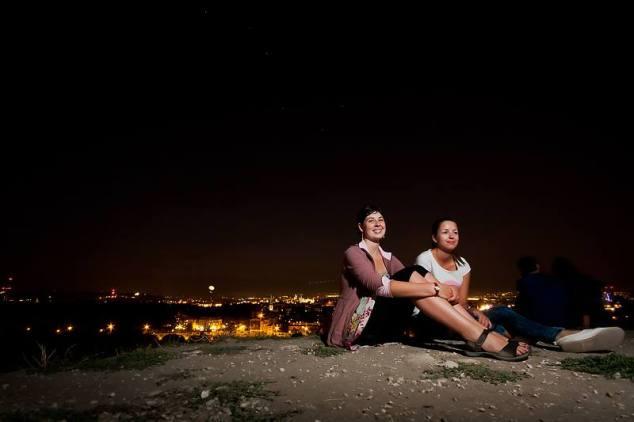 Magda and I on top of the Pagan mound, Krakow, Poland. Photo credit: Marek Petraszek