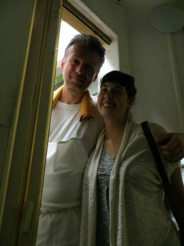 This man rescued me from a bathroom beneath the kitchen he worked at in a restaurant in Florence, Italy when the lock broke and I was stuck in a very small space. Faced one of my greatest fears and survived!