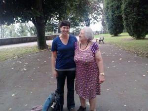 Amazing woman who gave me life wisdom and a bag of croissants in the park in Bilbao, Spain.