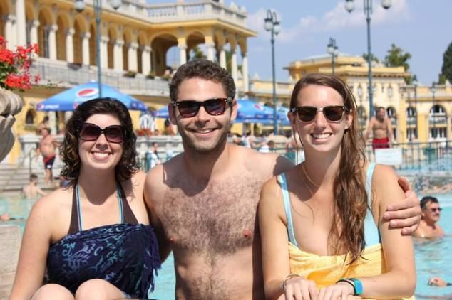 Met Noah, from NYC and Jenny, from Boston in Budapest, Hungary and spent a day at the baths together!