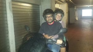 Daniele, my super fun couchsurfing host in Rome, Italy. My first time on a scooter!