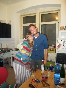 My amazing hosts who let me stay with them while I was recovering from a bad cold and made me feel so at home. --Vienna, Austria
