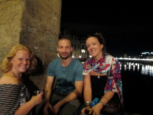 Fantastic travel buddies Molly, Victor and Erin in Florence, Italy.