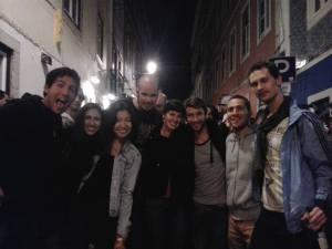 Great company on my last night in Lisbon, Portugal!