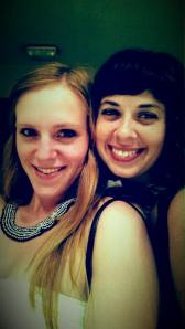 Fancy night out with my college friend, Morgan who met me for a weekend in Madrid, Spain.