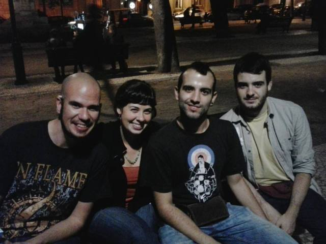 Hostel staff and I in Lisbon, Portugal. They took me to a drag show that night! Such a blast.